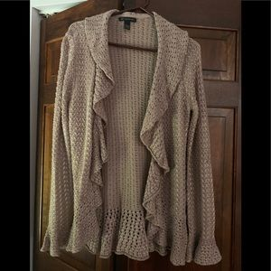 Inc crochet look cardigan